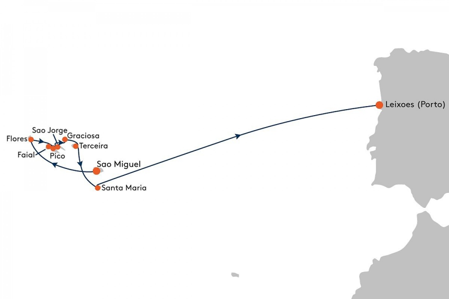 Route HANSEATIC nature Hapag Lloyd